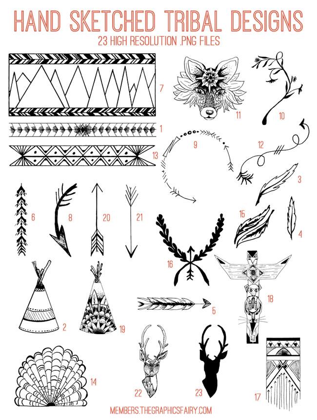 tribal_designs_image_list_graphicsfairy