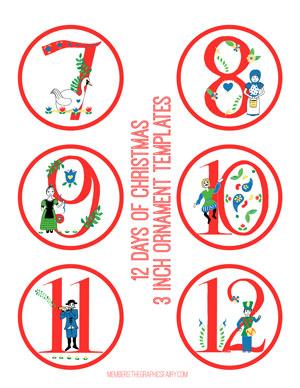 Critical image with 12 days of christmas printable templates