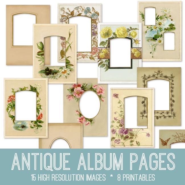Photo Page: Antique Album Pages