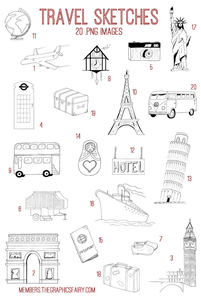 travel_sketches_image_list_graphicsfairy