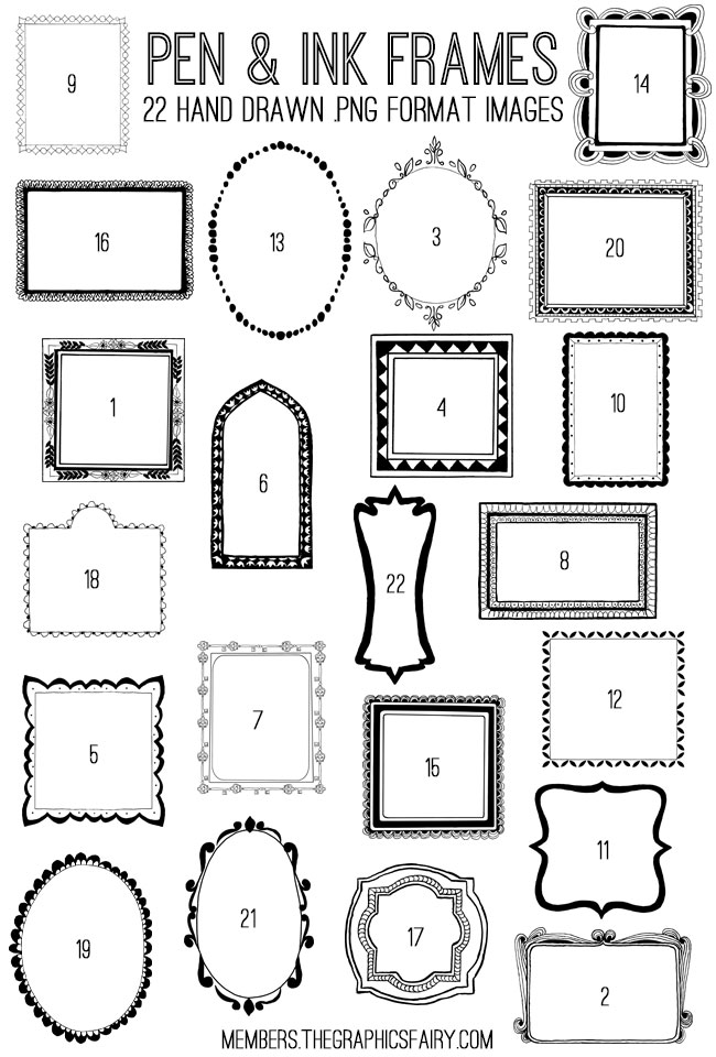 pen_ink_frames_image_list_graphicsfairy