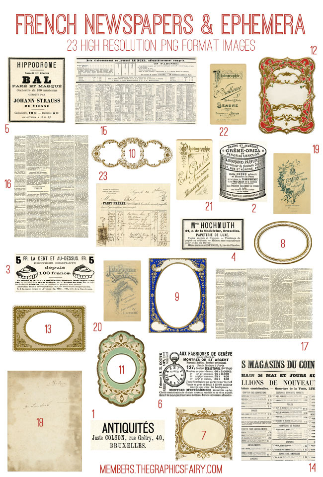 French_newspapers_image_list_graphicsfairy