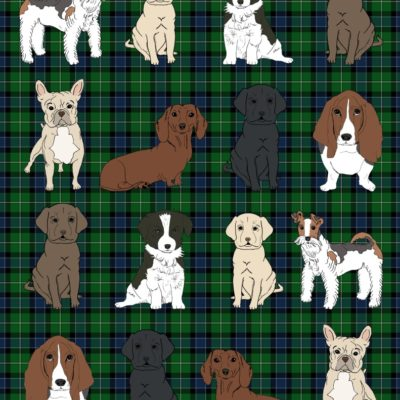 thumbnail of dogs_mini_wrapping_plaid_green_graphicsfairy