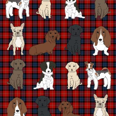 thumbnail of dogs_mini_wrapping_plaid_red_graphicsfairy