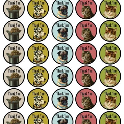 thumbnail of dogs_cats_thank_labels_graphicsfairy