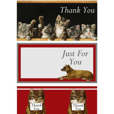 thumbnail of dogs_cats_thanks_cards_graphicsfairy