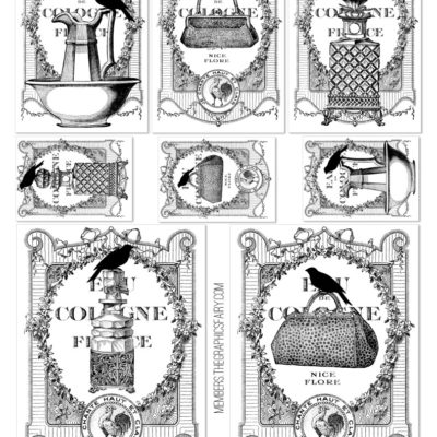 thumbnail of french_bottle_labels_bw_graphicsfairy