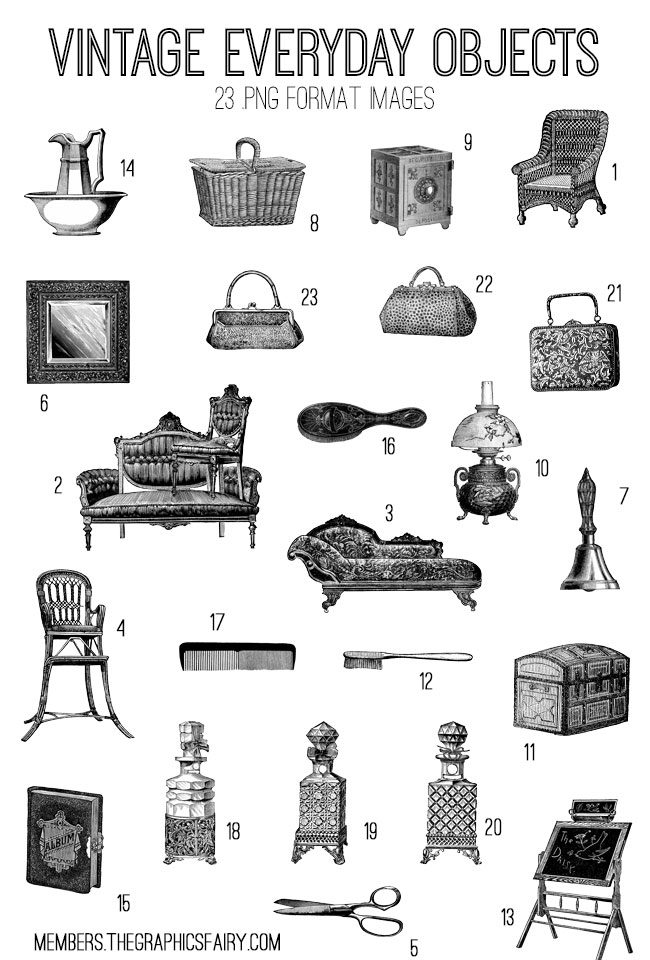 house_objects_image_list_graphicsfairy