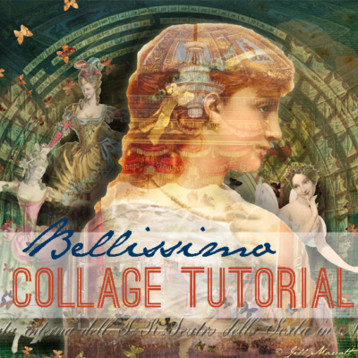 Bellissimo - Digital Collage -Jill Marcott McCall for Graphics Fairy Premium Membership