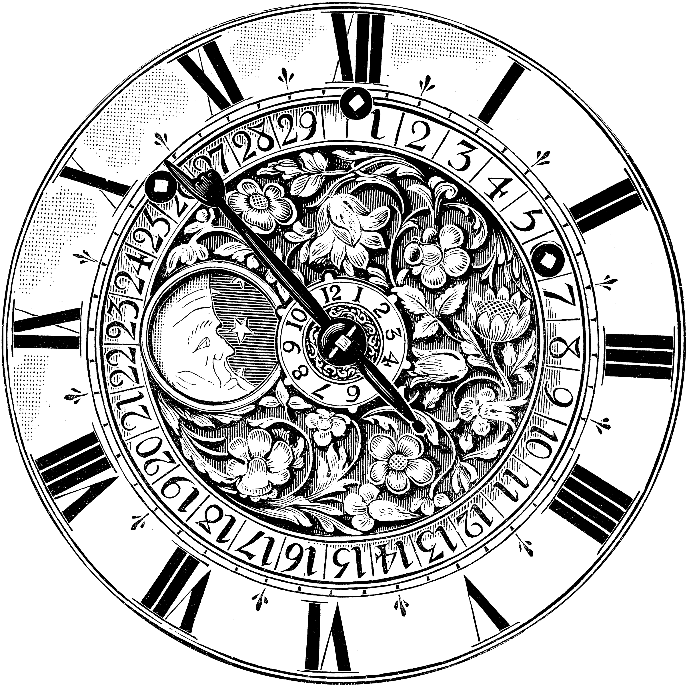 Gilded Clock Face Stickers