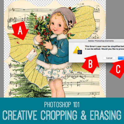 Crop and Erase Photoshop Elements tutorial
