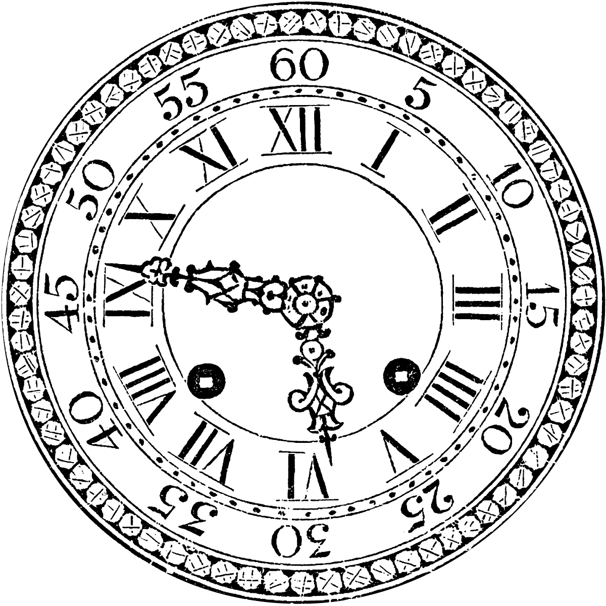 This is a graphic of Crafty Pictures of Clock Faces
